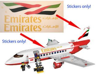 Custom Emirates Stickers for 3182 Passenger Plane Airport 3181 for