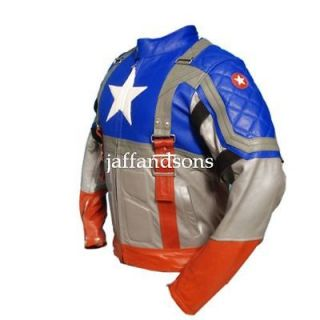 Captain America The First Avenger Chris Evans Genuine Leather Jacket