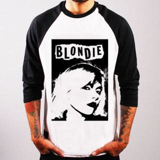 BLONDIE Debbie Harry Rock Punk Indie band Baseball t shirt 3/4 sleeve