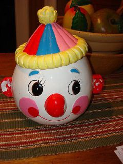 Vintage CLOWN COOKIE JAR J6685 Made in Japan
