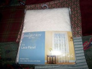 One Lace Curtain Panel 40 X 84 Deanna Ivory By Mainstays Home NWT