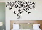 Tree Branch Butterfly Flower Wall Decor Sticker Art Vinyl Decal Black