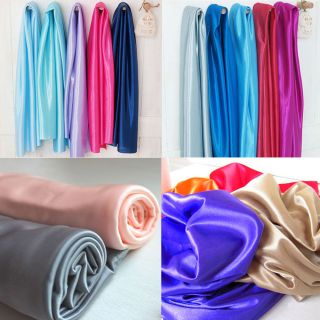 SHINY SILKY STRETCH SATIN FABRIC WEDDING DRAPERY DRESS COSTUME STUDIO