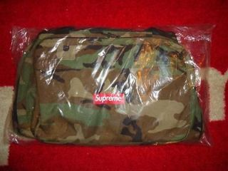 SUPREME 2012 S/S BOX LOGO 32 CAMO TRAVEL DUFFLE BAG BACKPACK UTILITY