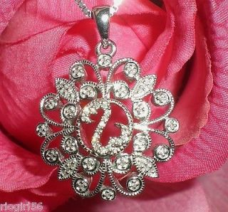 Open Heart SS Filigree Diamond Necklace 1/4ctw Only One On