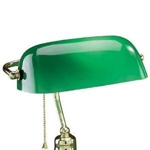 Green Cased Glass Light Lamp Shade for Bankers Desk Or Pharmacy Lamps