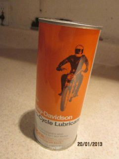 Harley Davidson AMF Tin Oil Can 2 Cycle Lubricant New