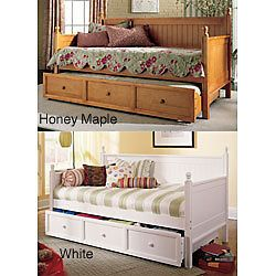 NEW Casey Twin Trundle Daybed day bed solid wood white sleep storage