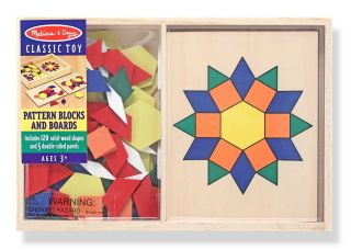 & Doug Wooden Toys Pattern Blocks Boards Educational Toy Development