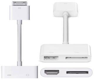 Digital AV HDMI Adapter to HDTV for Apple New iPad 2 3 iPhone 4S 4G