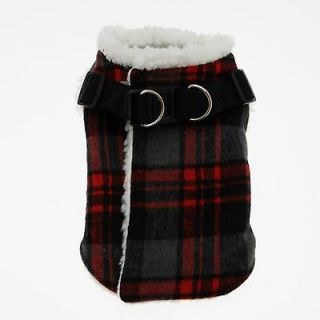 Wrap Up Coat Warm Thick Fleece Lining Step In Designer Dog Clothes
