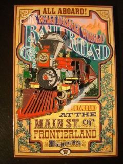 Disney Pin WDI Attraction Poster Pin Card Walt Disney World Railroad