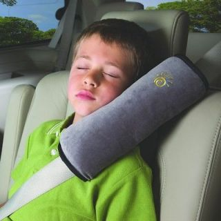 Childs/Kids Car Seat Belt Strap Cover/Comfort Pad/Padded Pillow Grey
