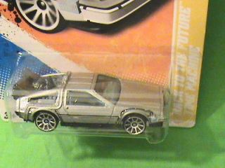 HOT WHEELS BACK TO THE FUTURE TIME MACHINE DELOREAN 2011 NEW MODELS