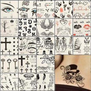 Fashion Cross Key Temporary Tattoo Body Art Stickers Safe Waterproof