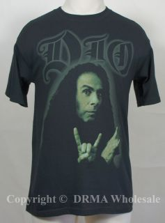 Authentic DIO Band Ronnie James Photo T Shirt S M L XL Official NEW