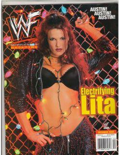 WWE WWF Lita Divas female wrestling magazine Lita w/poster 12 00