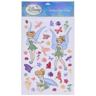 WOW DISNEY FAIRIES TINKERBELL GLASS WINDOW CLINGS STICKERS