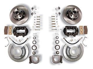 MUSTANG FRONT DISC BRAKE CONVERSION KIT 4 PIST CALIPER (Fits Mustang)