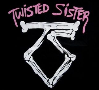 TWISTED SISTER cd lgo WERE NOT GONNA TAKE IT Official SHIRT MED new