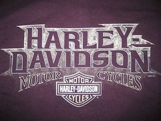 Mens HARLEY DAVIDSON XL Tee Shirt PURPLE Tee XL DONT TREAD ON ME