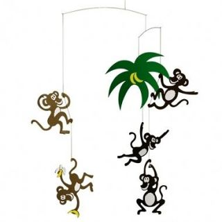 Flensted Monkey Tree Hanging Baby Mobile Nursery Decor