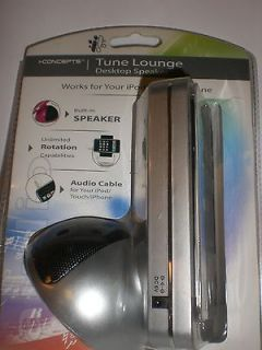 CONCEPTS TUNE LOUNGE DESKTOP SPEAKER FOR iPOD/TOUCH/iPH ONE