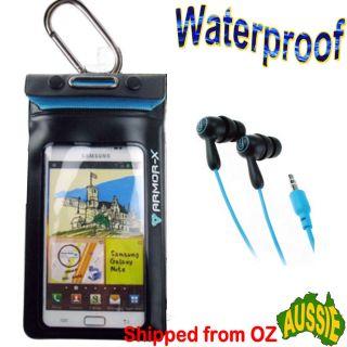 6MT Waterproof Case +EARPHONES Nokia Motorola LG Blackberry Phone boat
