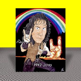 RONNIE JAMES DIO Rainbow in the Dark POSTER ART, black sabbath, signed