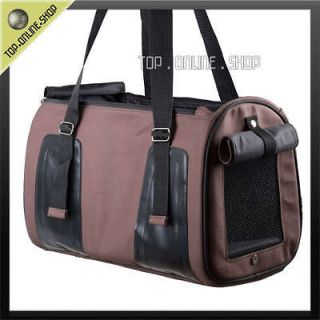 Leather Travel VET Pet Dog Cat Hand Bag Carrier Purse Crate BROWN D301
