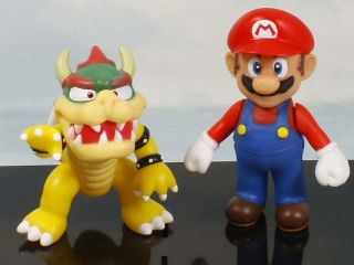 super mario bros bowser mario 4 5 figure toy lot 2