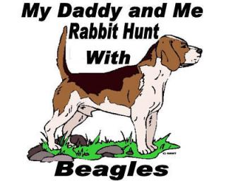 Tshirt Shirt Hunt Hunting Youth Hound Hunter Rabbit Beagle Daddy and