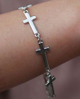 Ways Crystal Rhinestones Round Cross Bracelet Connector Charm Bead