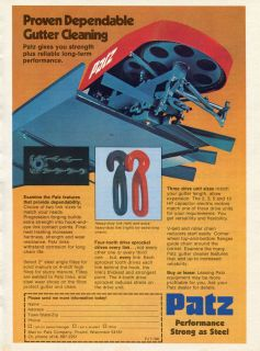 1983 Patz Solid & Slurry Manure Gutter Cleaner Ad