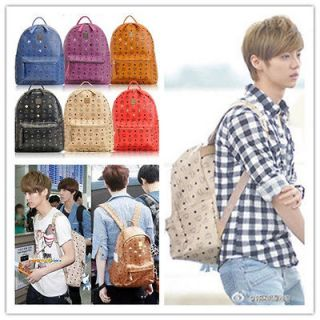 POP EXO/TVXQ/SNSD/ SJ rivet backpack/schoo lbag/bag/shoul der bag