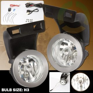 1994 2001 DODGE RAM 1500 2500 TRUCK CLEAR FOG LIGHTS LAMP KIT 95 96 97