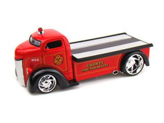 Jada HEAT 1/24 1947 Ford COE Tow Truck Flat Bed County Fire & Rescue