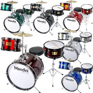 pcs 16 Junior Jr. Kid Child Drum Set Kit ~Red Black Blue Green Silver
