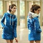 Womens Fashion Cotton Down Long Jacket Coat Winter Warm Padded Puffer