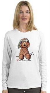 Golden Doodle Labradoodle Dog Ladies Long Sleeve Tshirts KiniArt