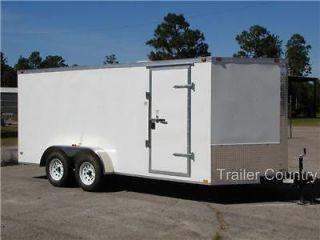 NEW 7x14 7 x 14 V Nose Enclosed Cargo Trailer w/ Ramp