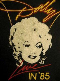 Deadstock DOLLY PARTON Live in 1985 Screen*Stars Og Vtg concert/tour T