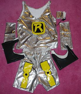 RYBACK WRESTLING FANCY DRESS UP COSTUME OUTFIT SUIT FULL NEW 4 CHILD