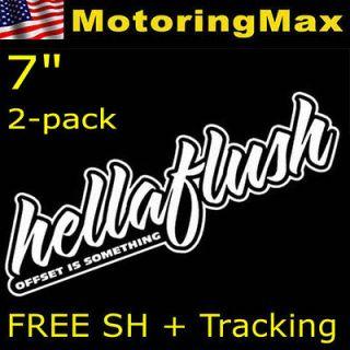 Euro HellaFlush Hella Flush Drifting Racing Car Vinyl Decals Stickers