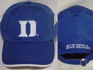 DUKE BLUE DEVILS logo New Blue Relaxed fit Low profile NCAA Hat cap
