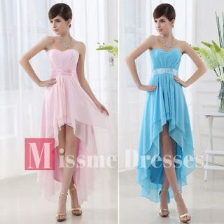Pink Chiffon Short front long back Homecoming Party Prom dresses 2013