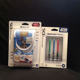 Nintendo DSi Lite Star Wars Obi Wan Kenobi Sleeve Kit + Light Saber