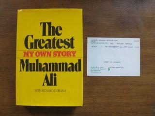 1st 1975 HCDJ ARC THE GREATEST Muhammad Ali biography Durham NF boxing