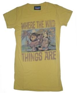 New Authentic Junk Food Where the Wild Things Are Yellow Juniors T