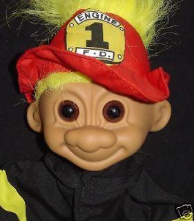 FIREMAN Russ Troll Doll Puppet NEW 9 FIRE FIGHTER